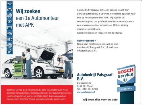 Autobedrijf Palsgraaf / Vacature 1e Monteur